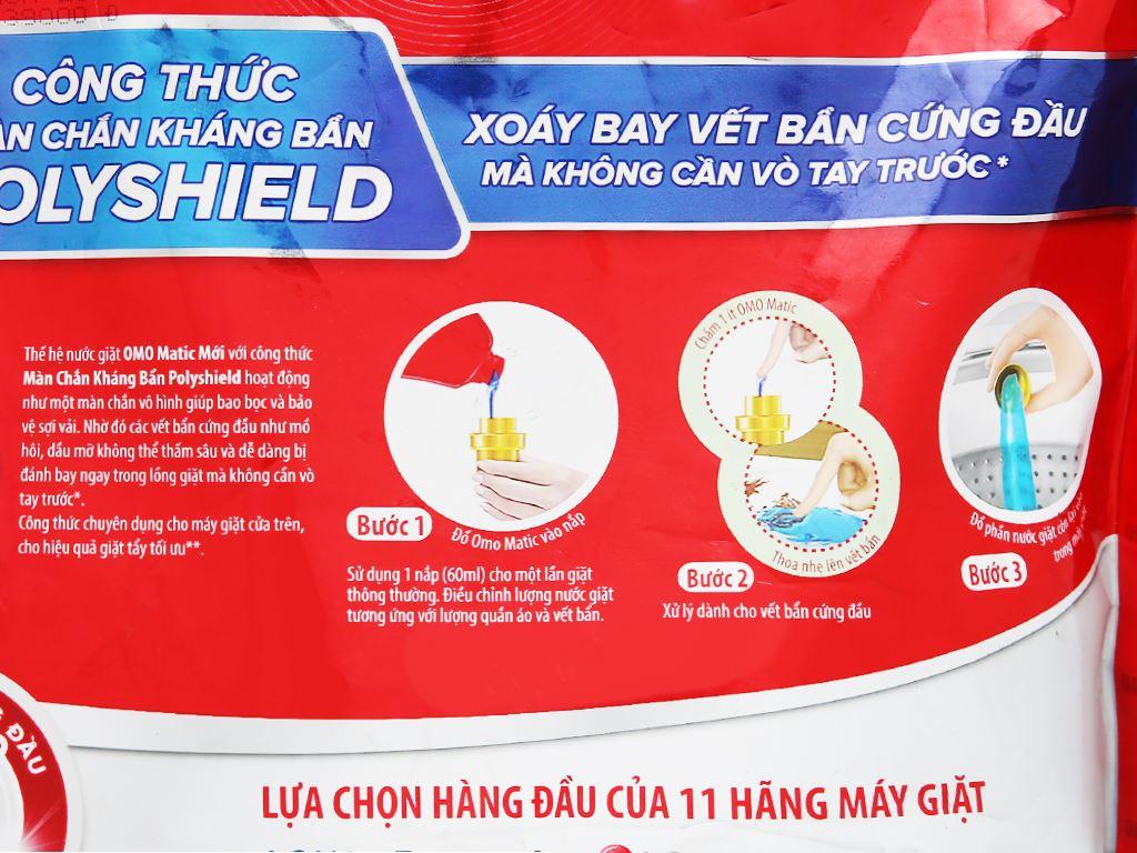 Nước giặt OMO Matic 3X xoáy bay vết bẩn túi 2.7kg 3