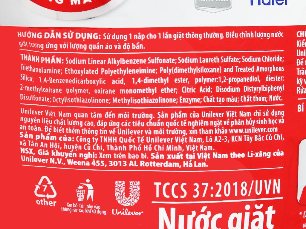 Nước giặt OMO Matic 3X xoáy bay vết bẩn túi 2.7kg 4