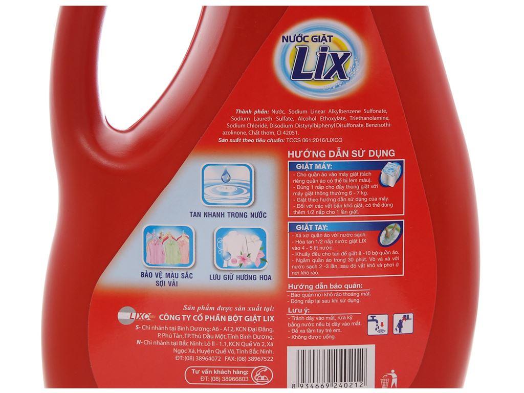 Nước giặt Lix đậm đặc hương hoa chai 2kg 4
