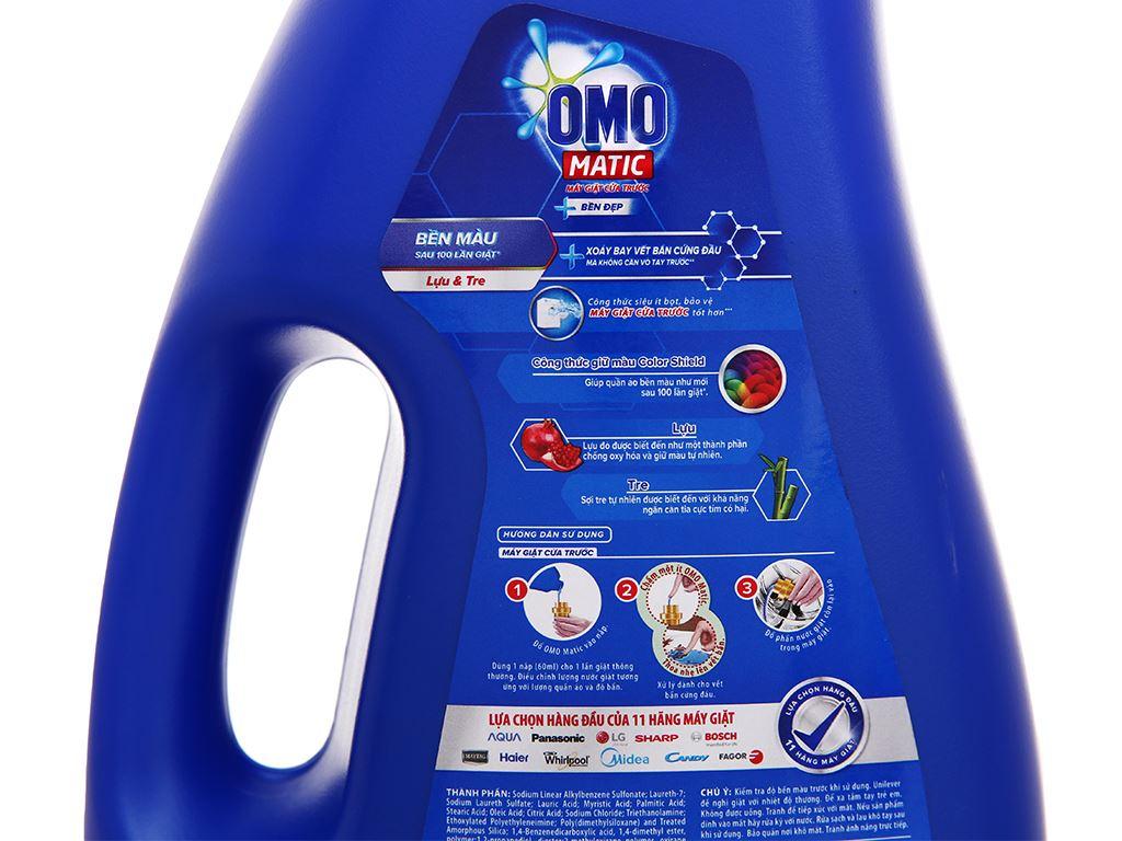 Nước giặt OMO Matic cửa trước bền đẹp chai 2.2 lít 8