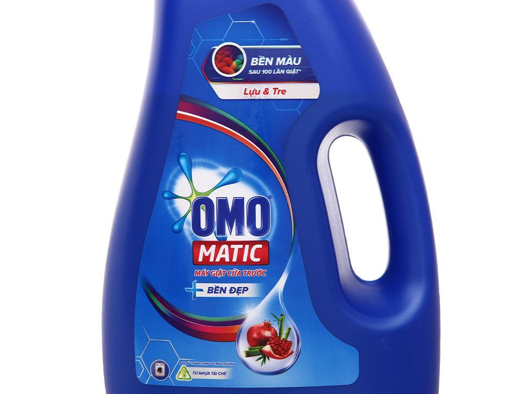 Nước giặt OMO Matic cửa trước bền đẹp chai 2.2 lít 9