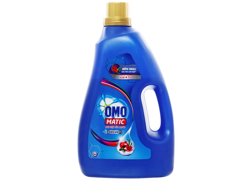 Nước giặt OMO Matic cửa trước bền đẹp Thơm dịu nhẹ chai 2.3kg 1