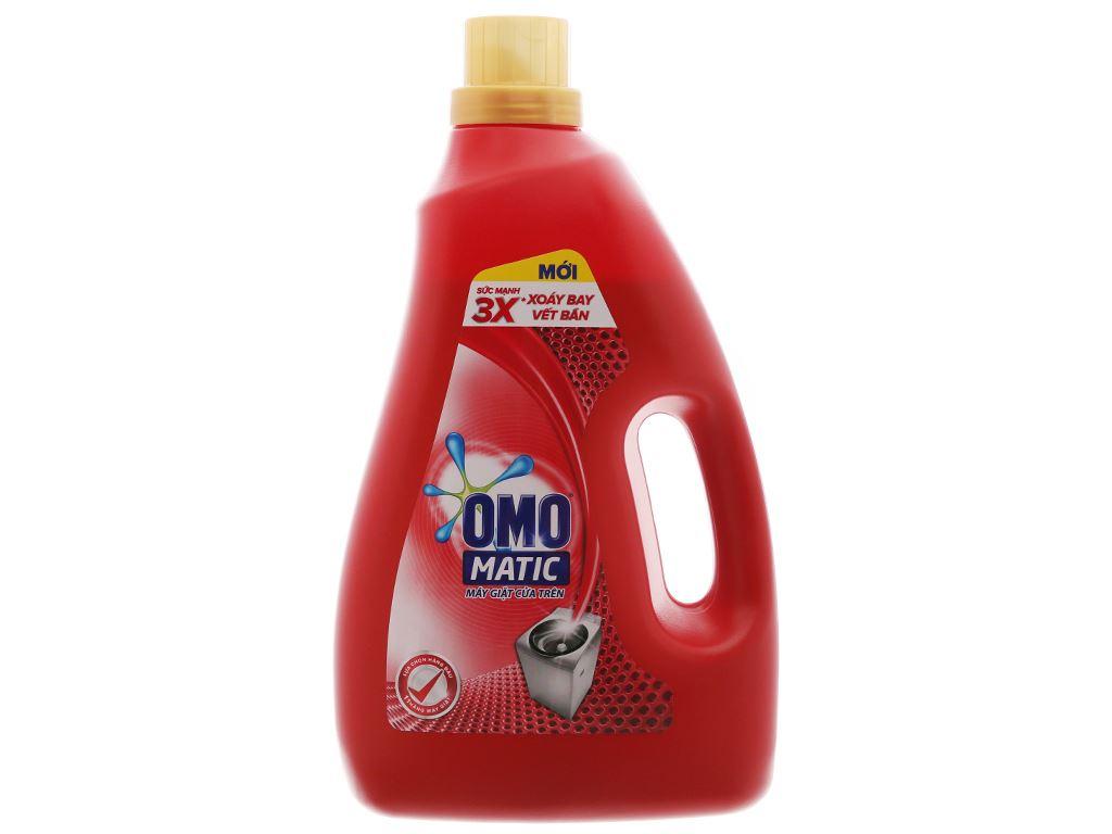 Nước giặt OMO Matic 3X xoáy bay vết bẩn chai 2.7kg 2
