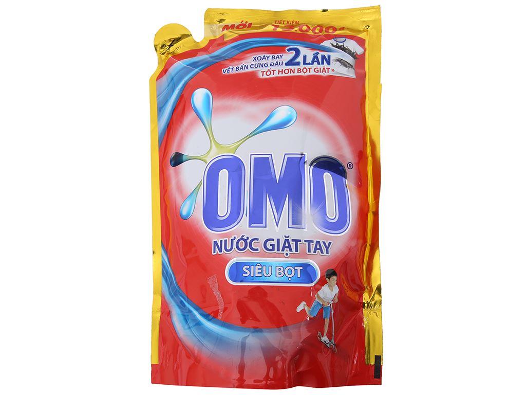 Nước giặt tay OMO siêu bọt túi 1.8kg 2