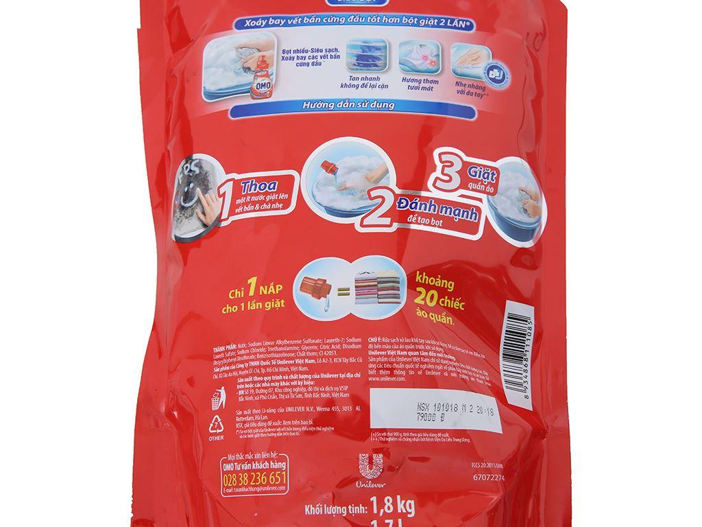 Nước giặt tay OMO siêu bọt túi 1.8kg 4