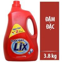 Nước giặt Lix đậm đặc chai 3.8kg