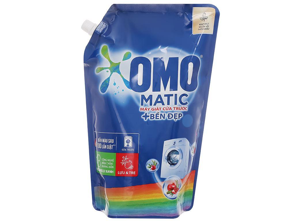 Nước giặt OMO Matic bền đẹp cửa trước lựu và tre 1.9 lít 7