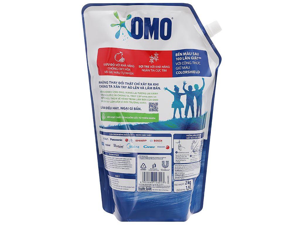 Nước giặt OMO Matic bền đẹp cửa trước lựu và tre 1.9 lít 8