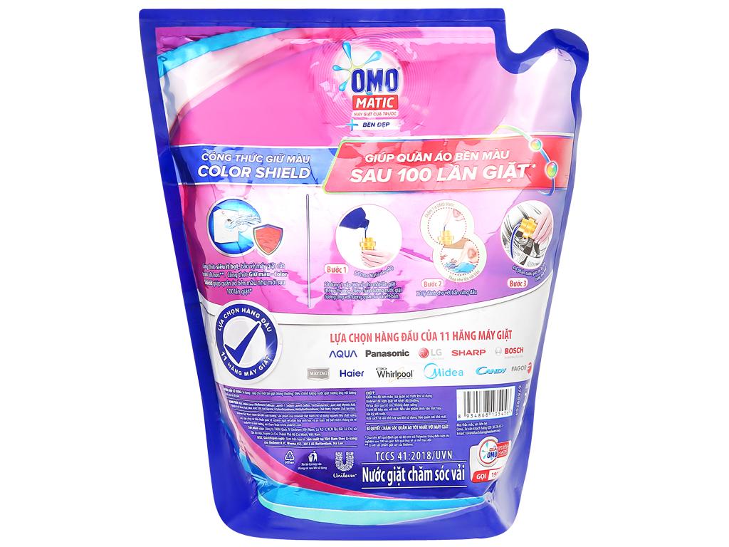 Nước giặt OMO Matic cửa trước bền đẹp túi 2.3kg 2