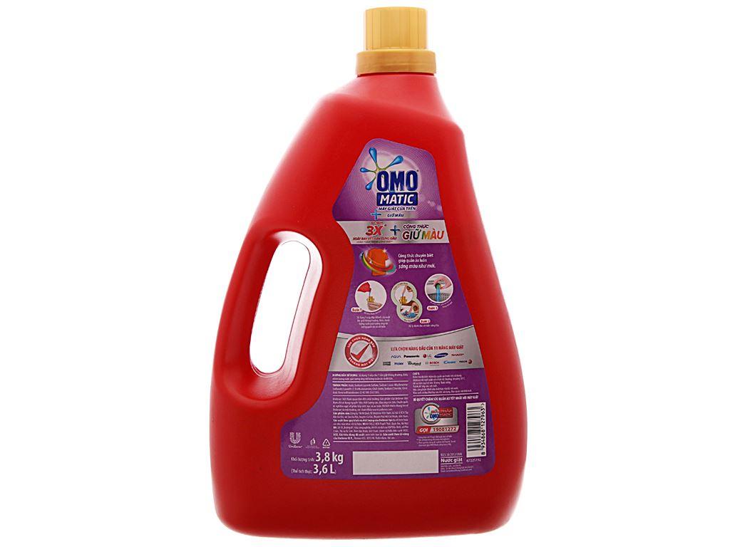 Nước giặt OMO Matic giữ màu chai 3.6 lít 2