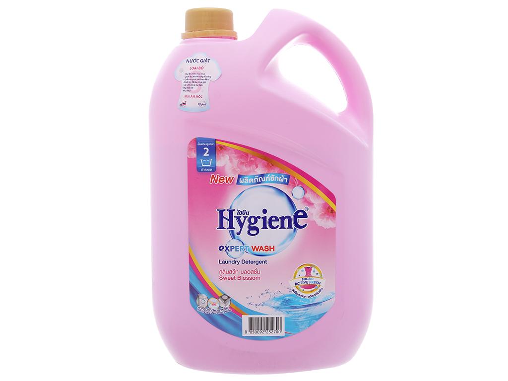 Nước giặt xả Hygiene hồng hương hoa nhẹ nhàng can 3 lít 2