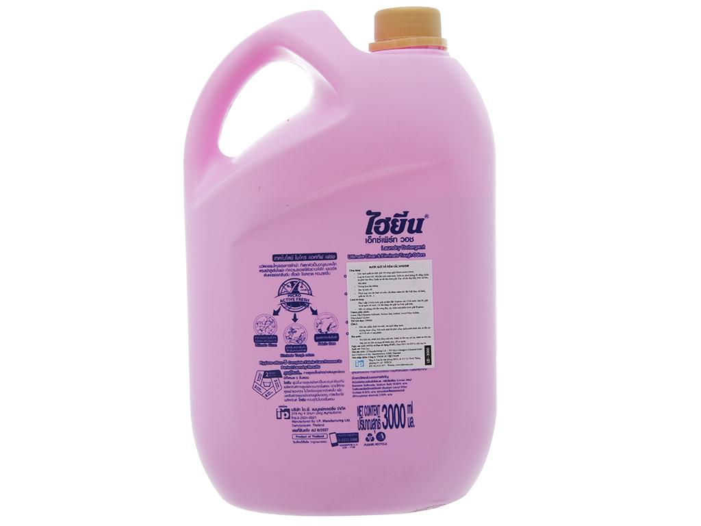 Nước giặt xả Hygiene hồng hương hoa nhẹ nhàng can 3 lít 3