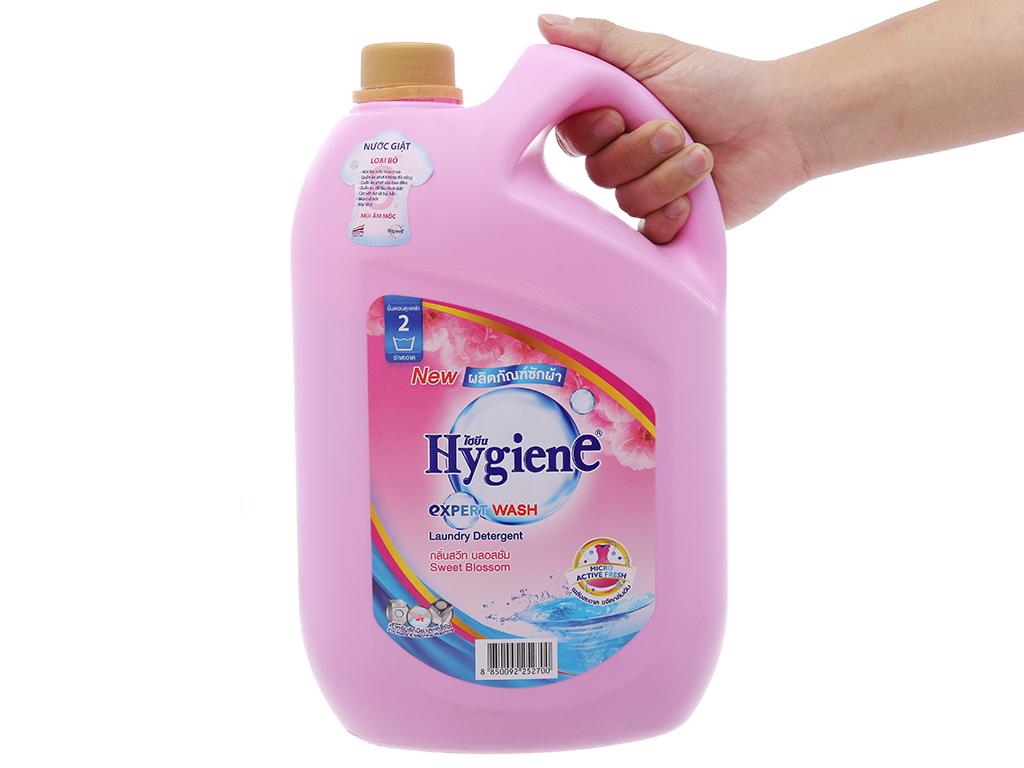 Nước giặt xả Hygiene hồng hương hoa nhẹ nhàng can 3 lít 5