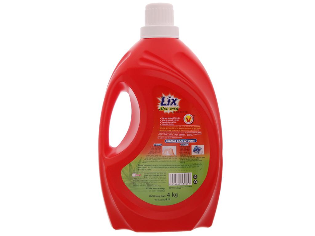 Nước giặt Lix aloe vera bảo vệ da tay 4 lít 3