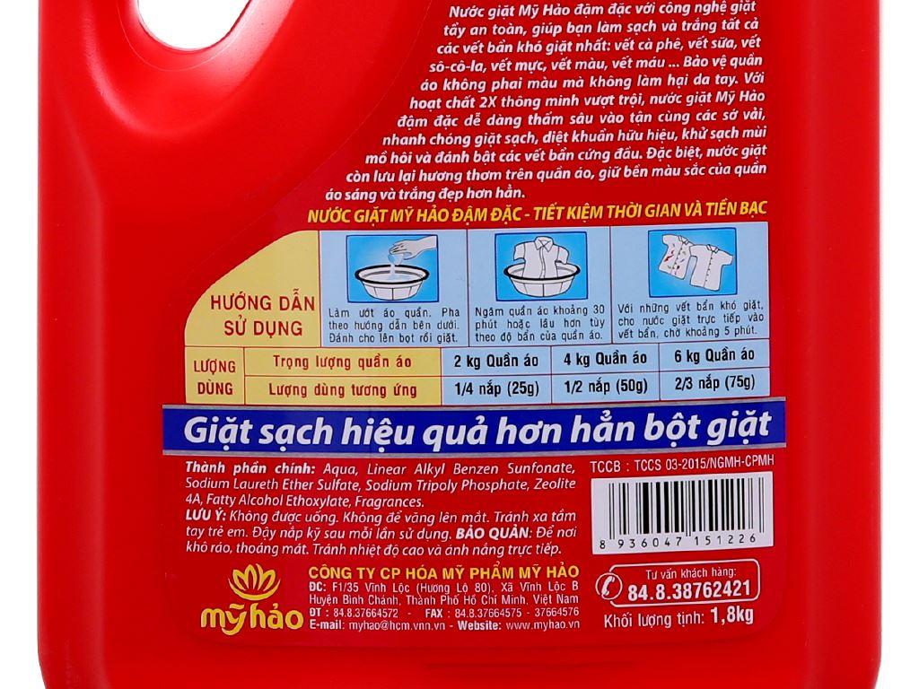Nước giặt Mỹ Hảo đậm đặc chai 1.8kg 4