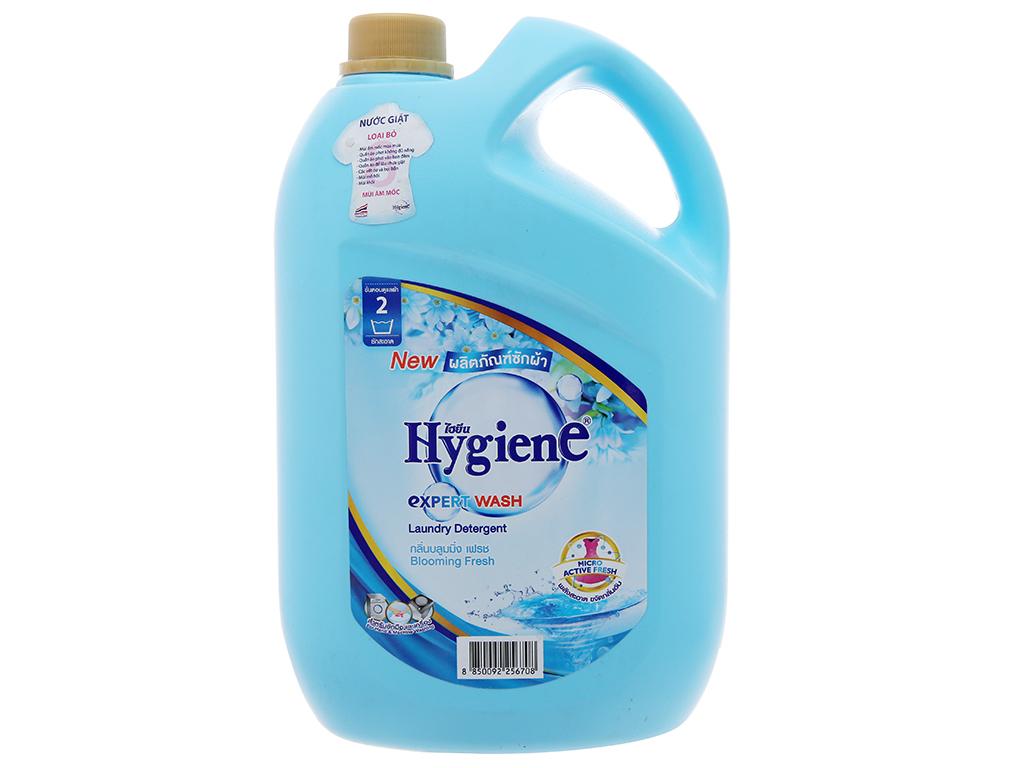 Nước giặt xả Hygiene xanh hương hoa nhẹ nhàng can 3 lít 2