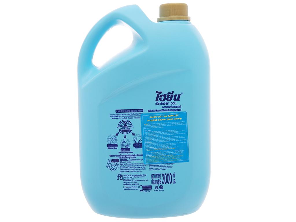 Nước giặt xả Hygiene xanh hương hoa nhẹ nhàng can 3 lít 3