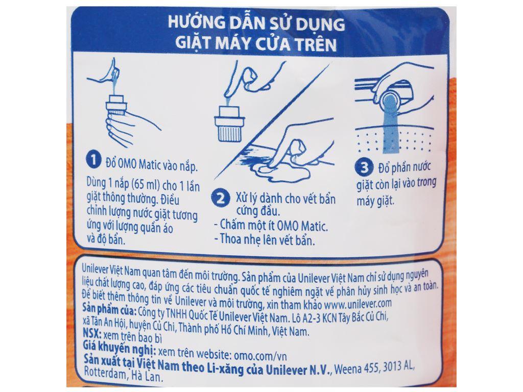 Nước giặt OMO Matic bền đẹp cửa trên 1.9 lít 3