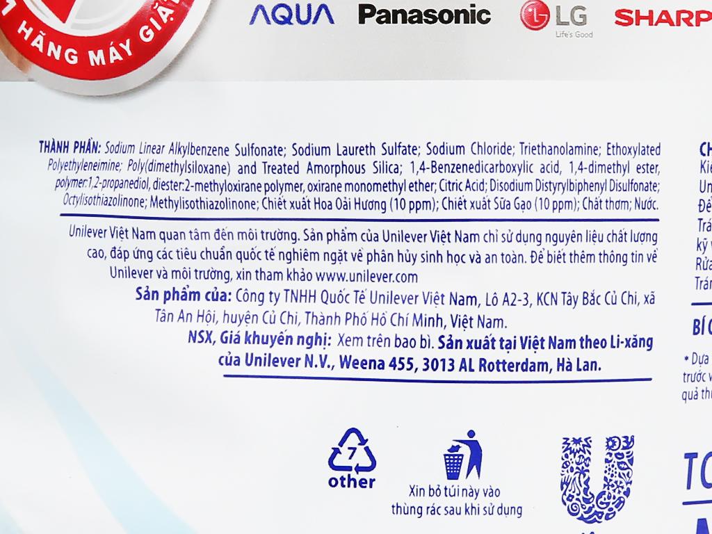 Nước giặt OMO Matic dịu nhẹ trên da túi 2.4kg 4