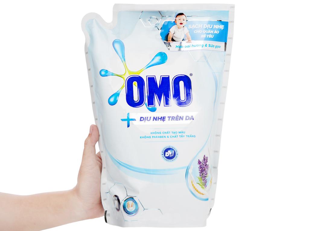 Nước giặt OMO Matic dịu nhẹ trên da túi 2.4kg 5
