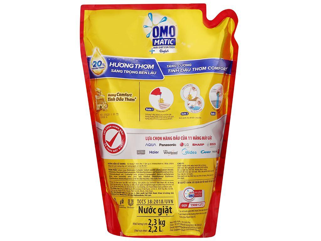 Nước giặt OMO Matic cửa trên Comfort tinh dầu thơm 1.9 lít 6