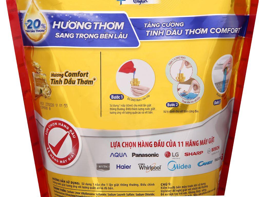 Nước giặt OMO Matic cửa trên Comfort tinh dầu thơm 1.9 lít 8
