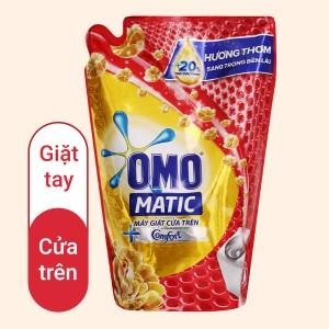 Nước giặt OMO Matic cửa trên hương Comfort tinh dầu thơm giúp quần áo sạch bẩn thơm lâu túi 2kg