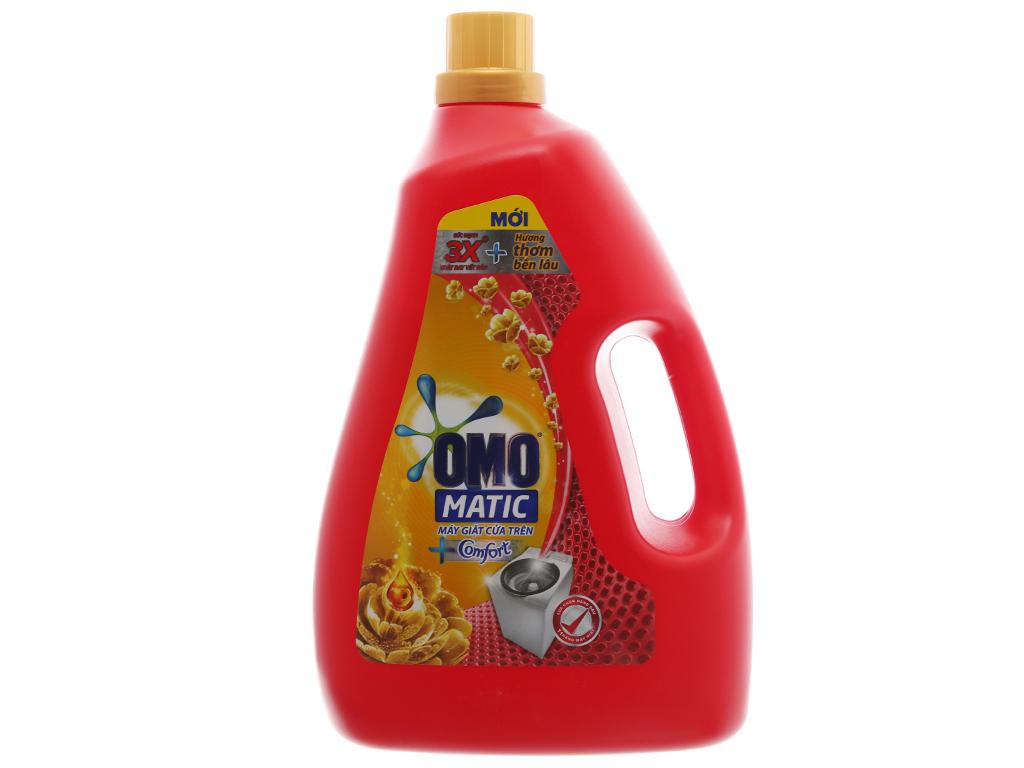 Nước giặt OMO Matic Comfort tinh dầu thơm chai 3.7kg 2