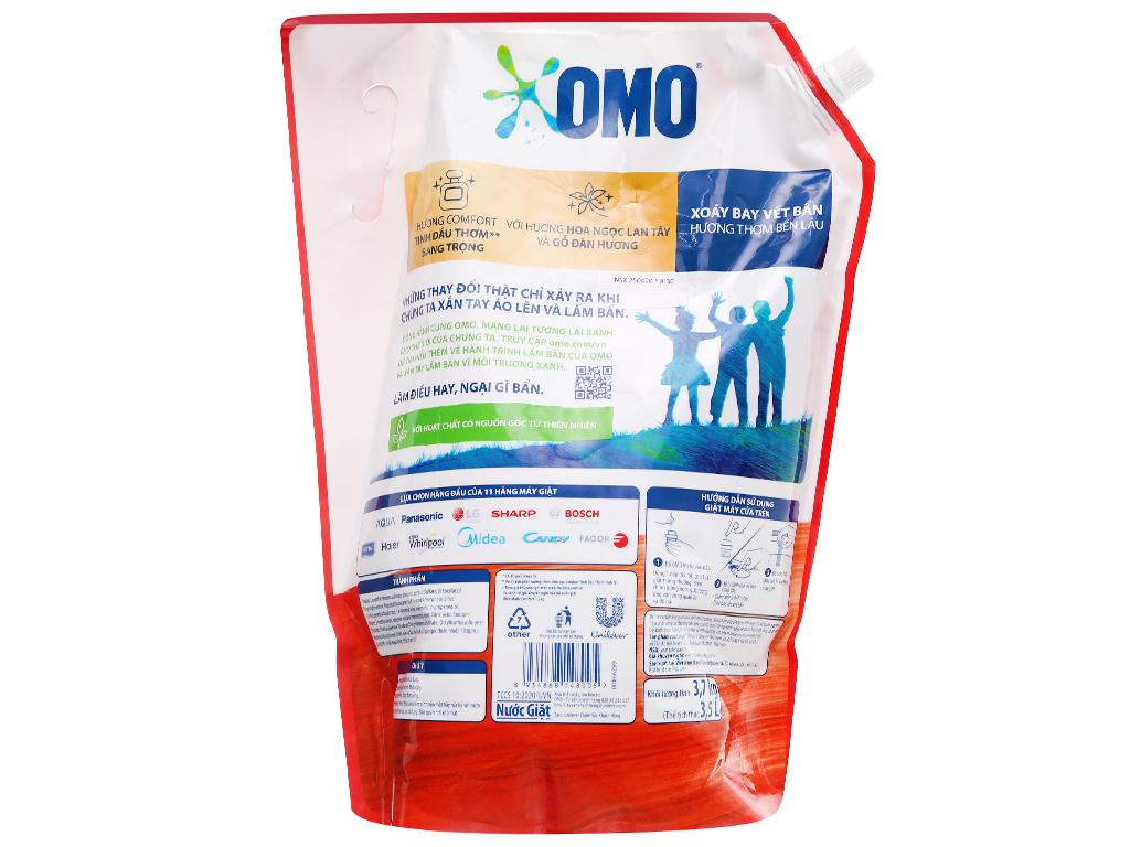 Nước giặt OMO Matic comfort tinh dầu thơm chai 3.5 lít 12