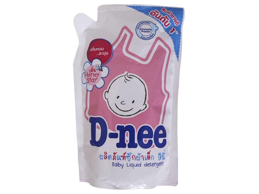 Nước giặt D-nee hồng túi 600ml 1