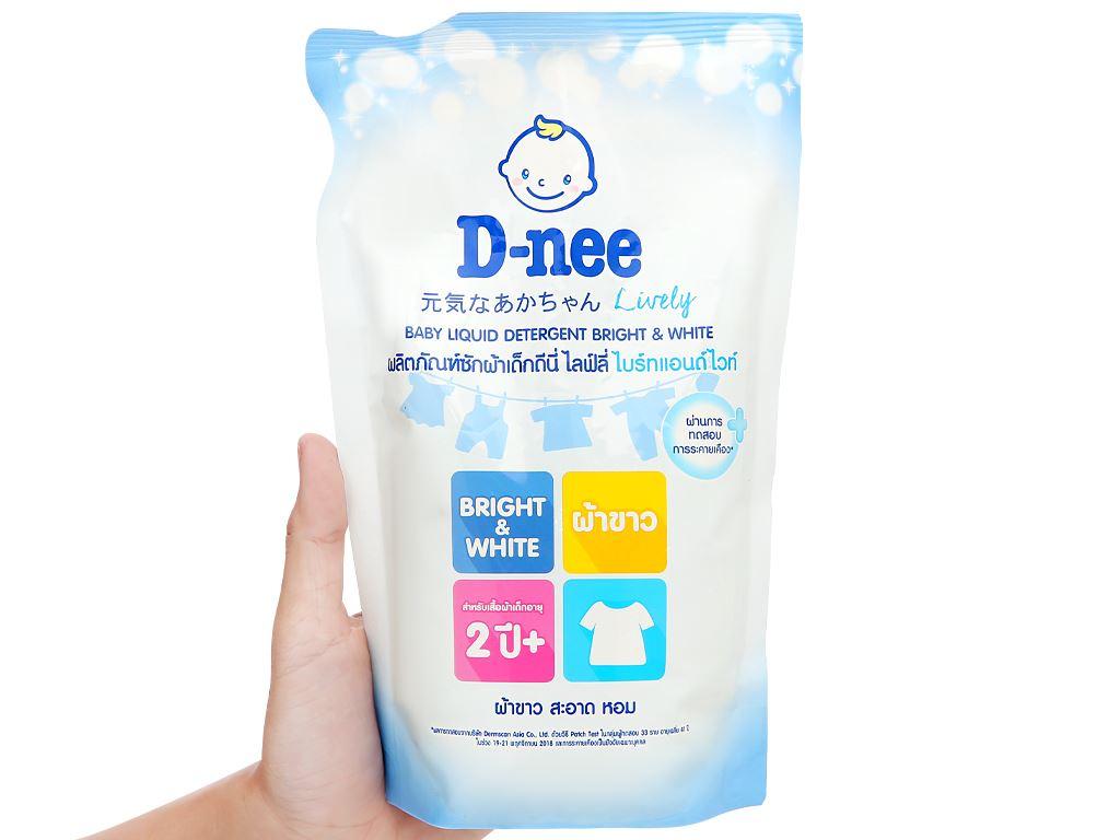 Nước giặt cho bé D-nee trắng túi 600ml 4