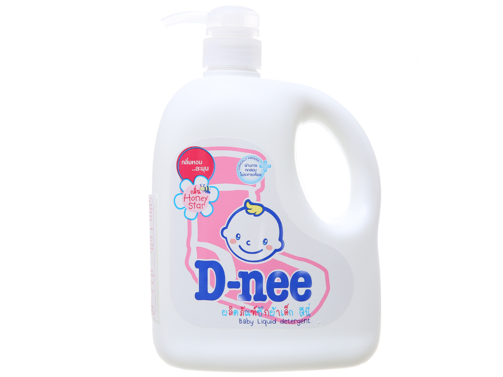 Nước giặt cho bé D-nee hồng chai 960ml 2