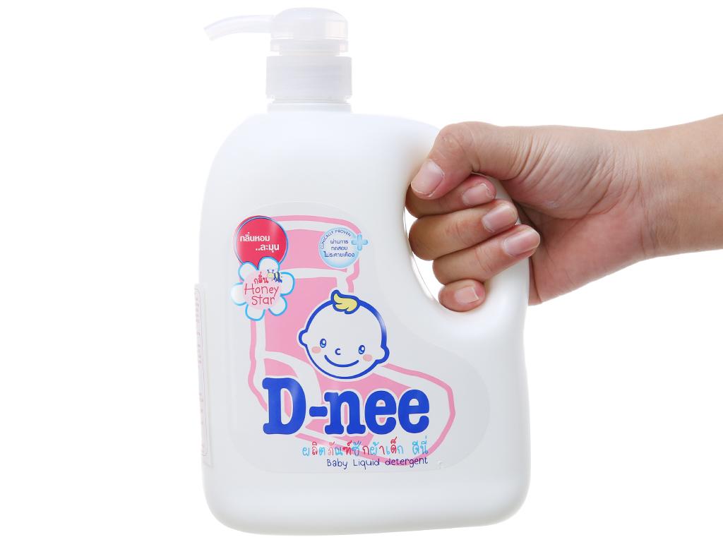 Nước giặt cho bé D-nee hồng chai 960ml 4