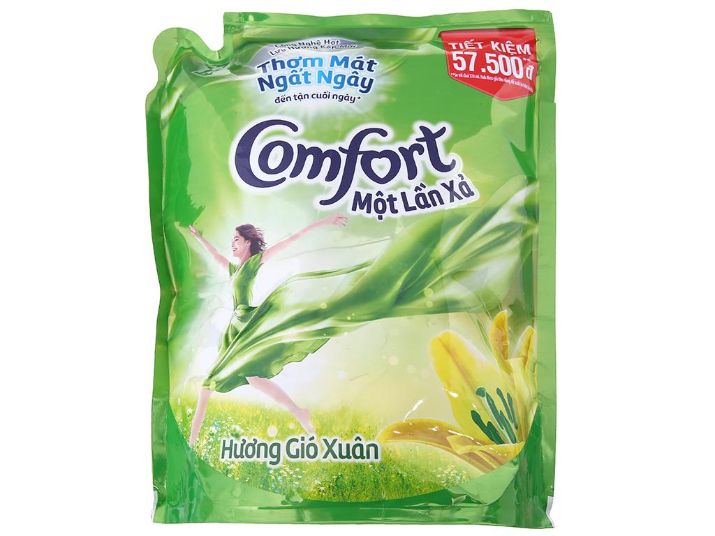 Nước xả vải Comfort một lần xả hương gió xuân túi 2.6L 2