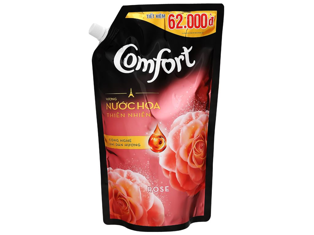 Nước xả vải Comfort hương nước hoa thiên nhiên rose túi 1.5 lít 7