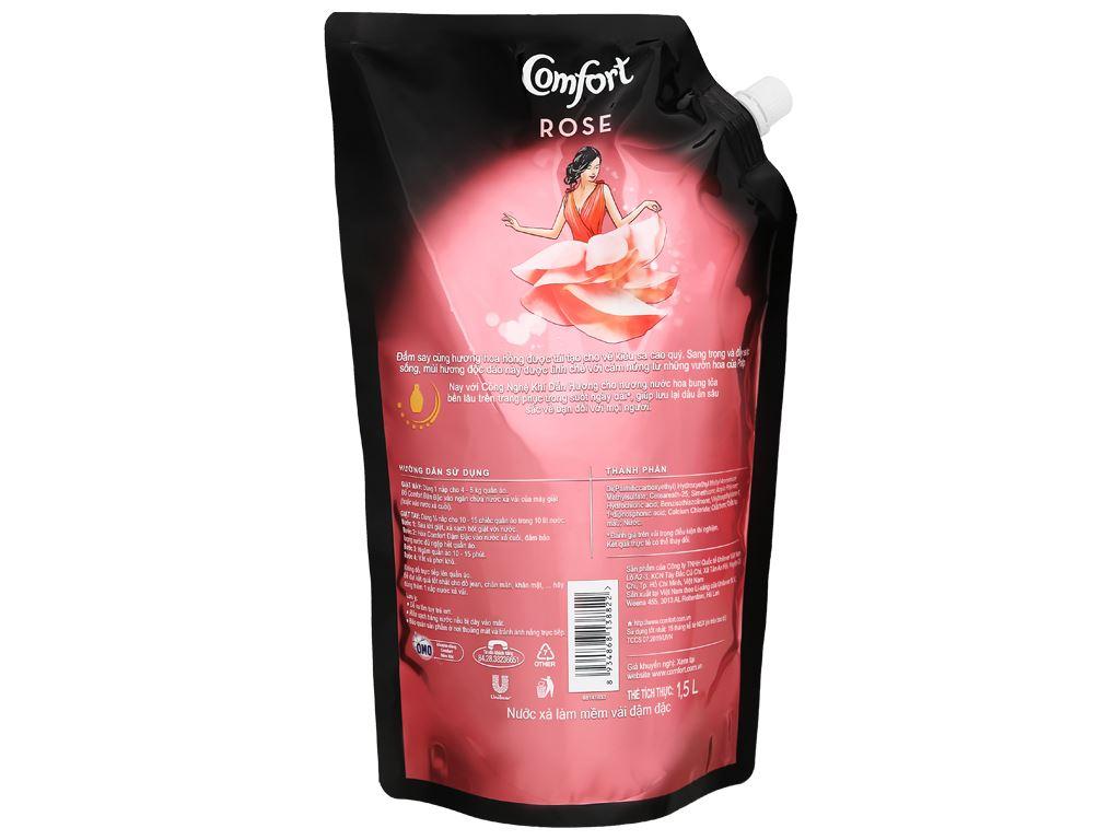 Nước xả vải Comfort hương nước hoa thiên nhiên rose túi 1.5 lít 8