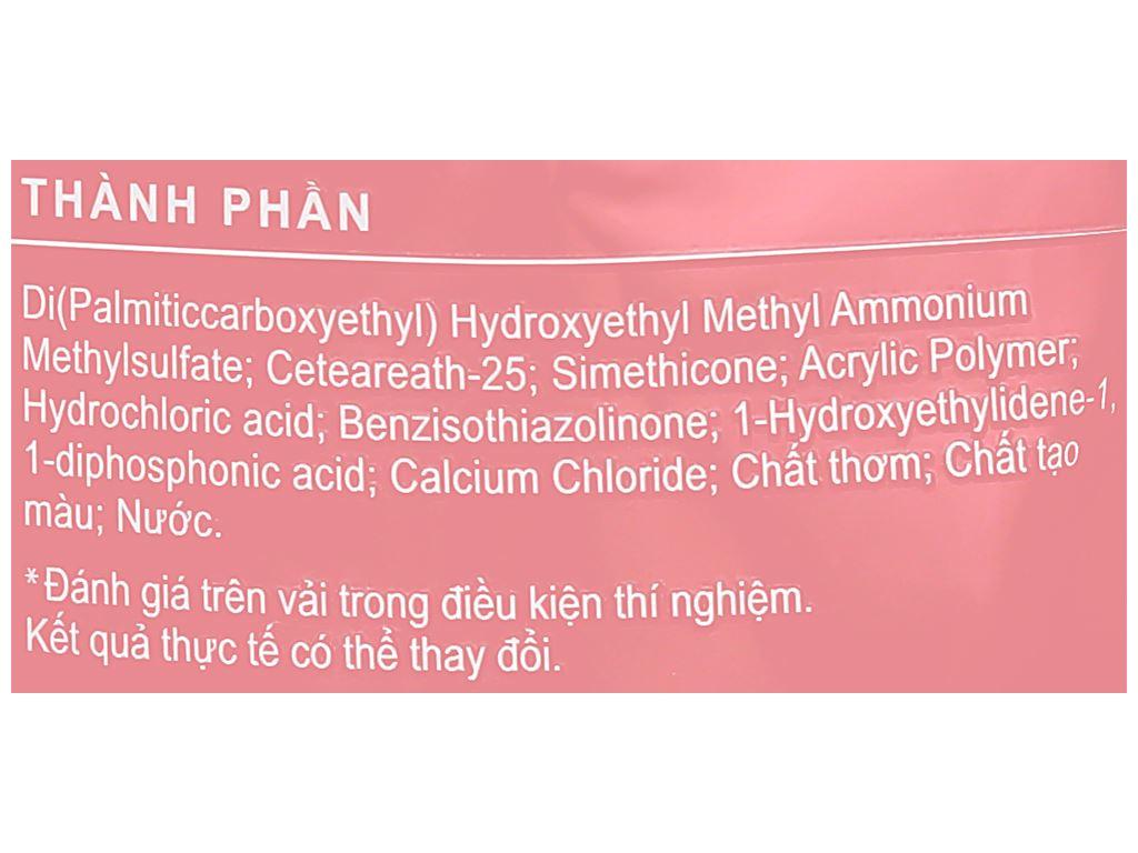 Nước xả vải Comfort hương nước hoa thiên nhiên rose túi 1.5 lít 10