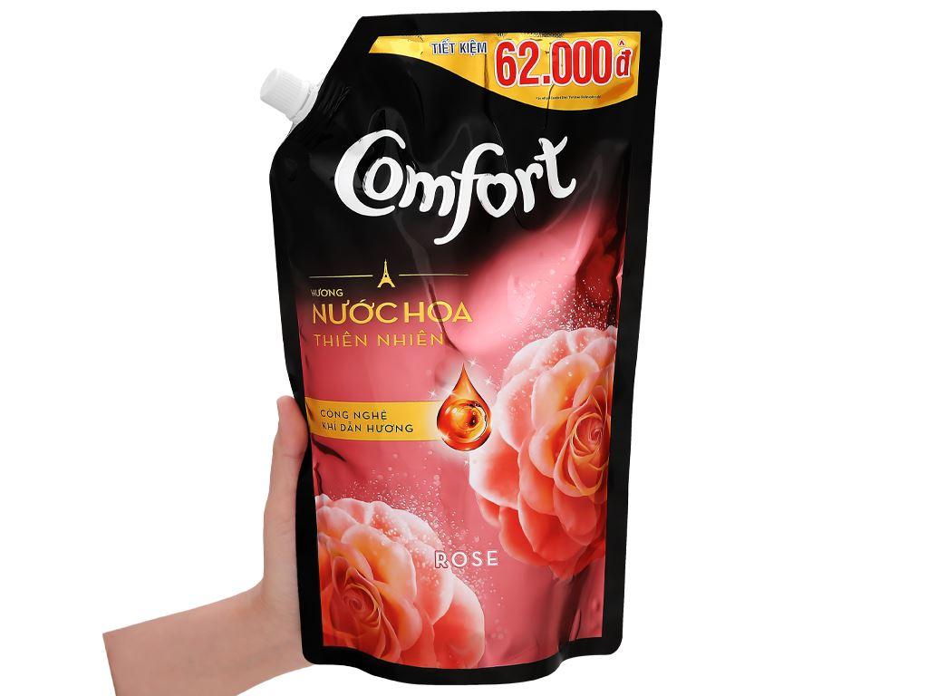 Nước xả vải Comfort hương nước hoa thiên nhiên rose túi 1.5 lít 11