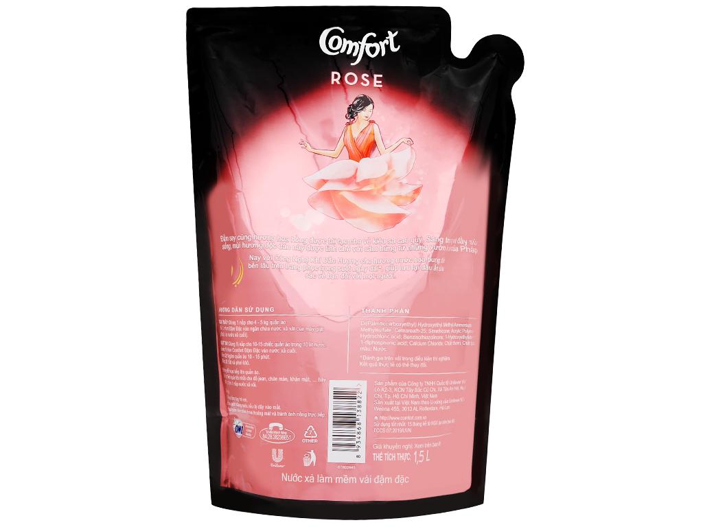 Nước xả vải Comfort hương nước hoa Rose túi 1.6 lít 3