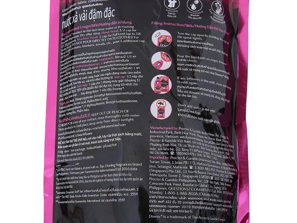 Nước xả vải Downy Premium Parfum tươi trẻ túi 1.5 lít 4