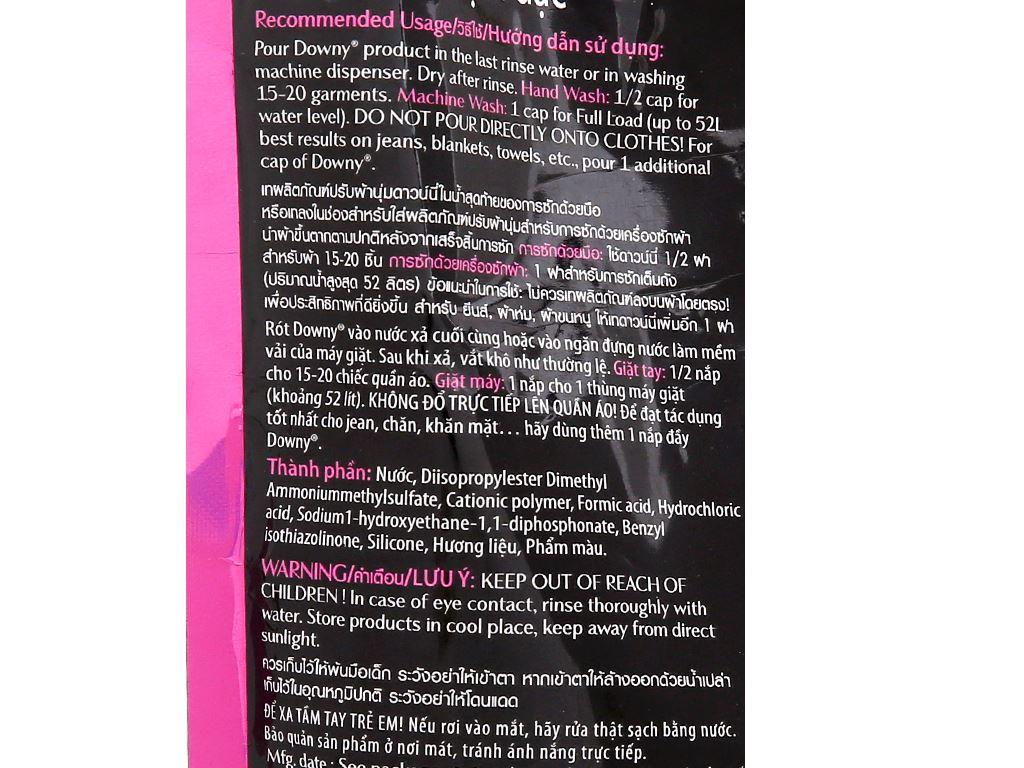 Nước xả vải Downy Parfum Collection tươi trẻ túi 800ml 4