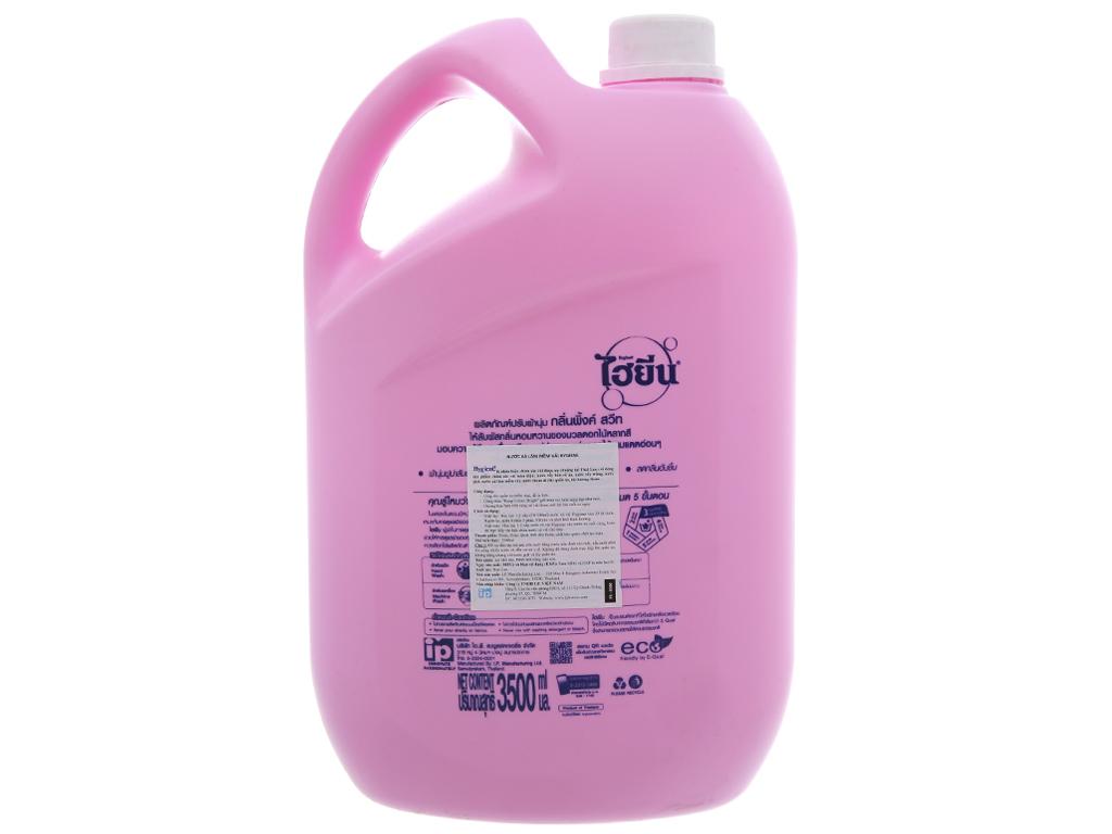 Nước xả vải cho bé Hygiene Pink Sweet can 3.5L 3