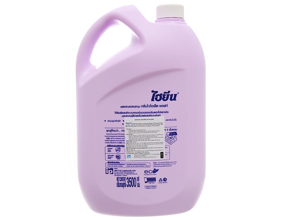 Nước xả vải cho bé Hygiene Violet Soft can 3.5 lít 2