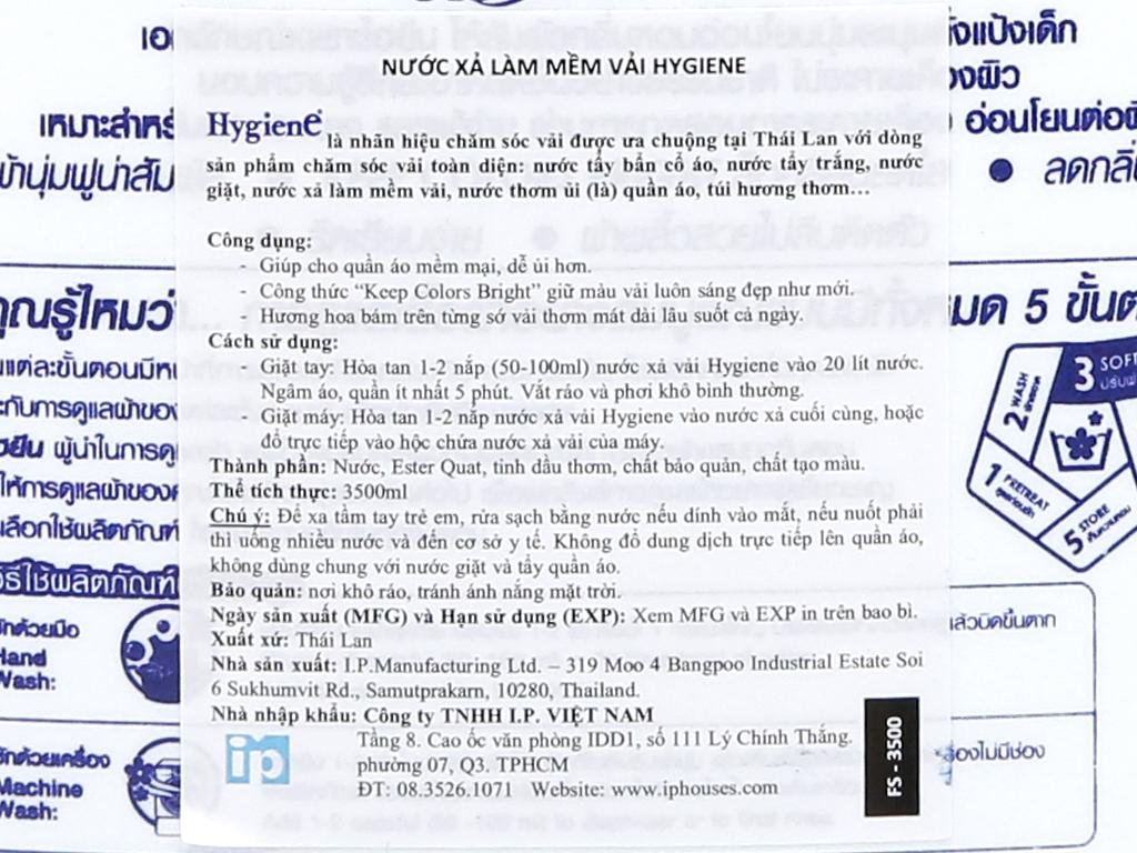 Cho bé Hygiene Soft White can 3.5 lít 5