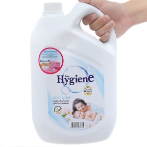 Nước xả vải cho bé Hygiene Soft White can 3.5 lít