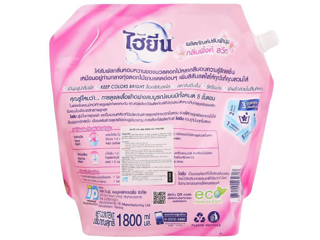 Nước xả vải cho bé Hygiene Pink Sweet túi 1.8 lít 5