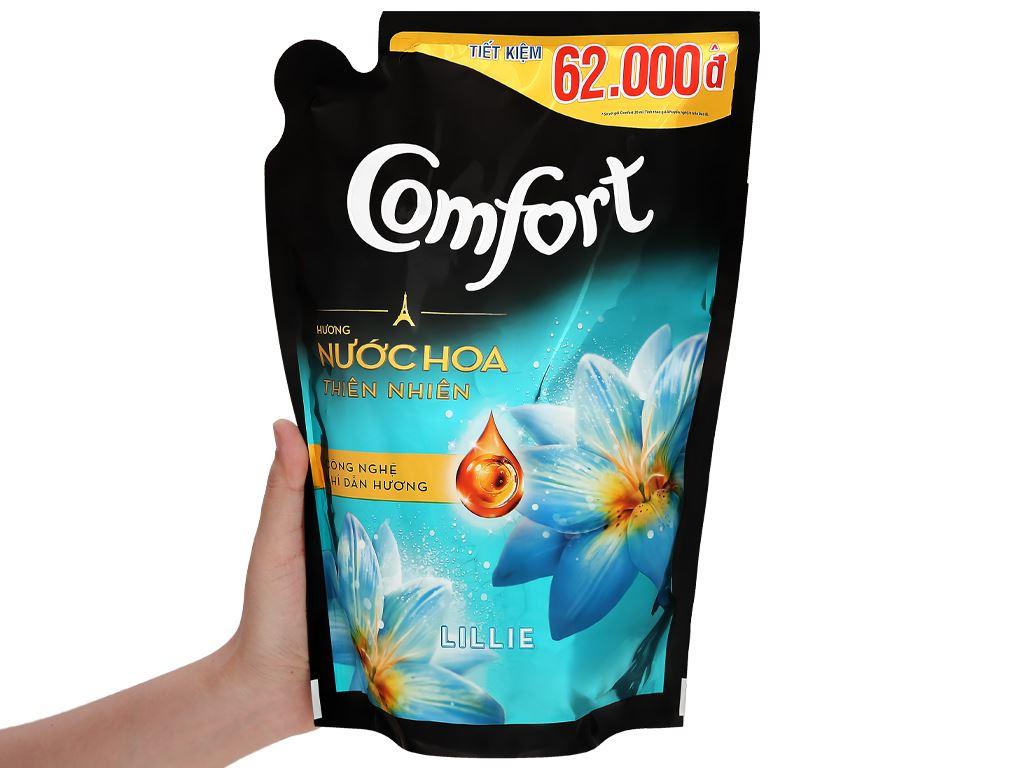 Nước xả vải Comfort hương nước hoa thiên nhiên lillie túi 1.5 lít 5