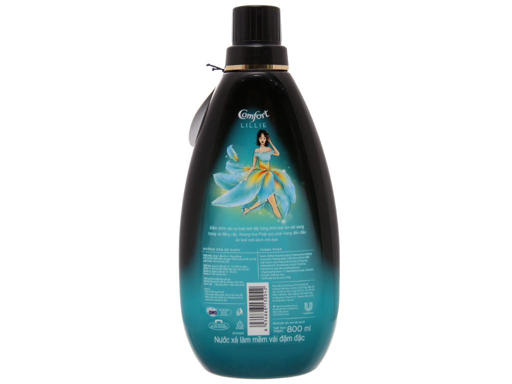 Nước xả vải Comfort nước hoa Lillie chai 800ml 3