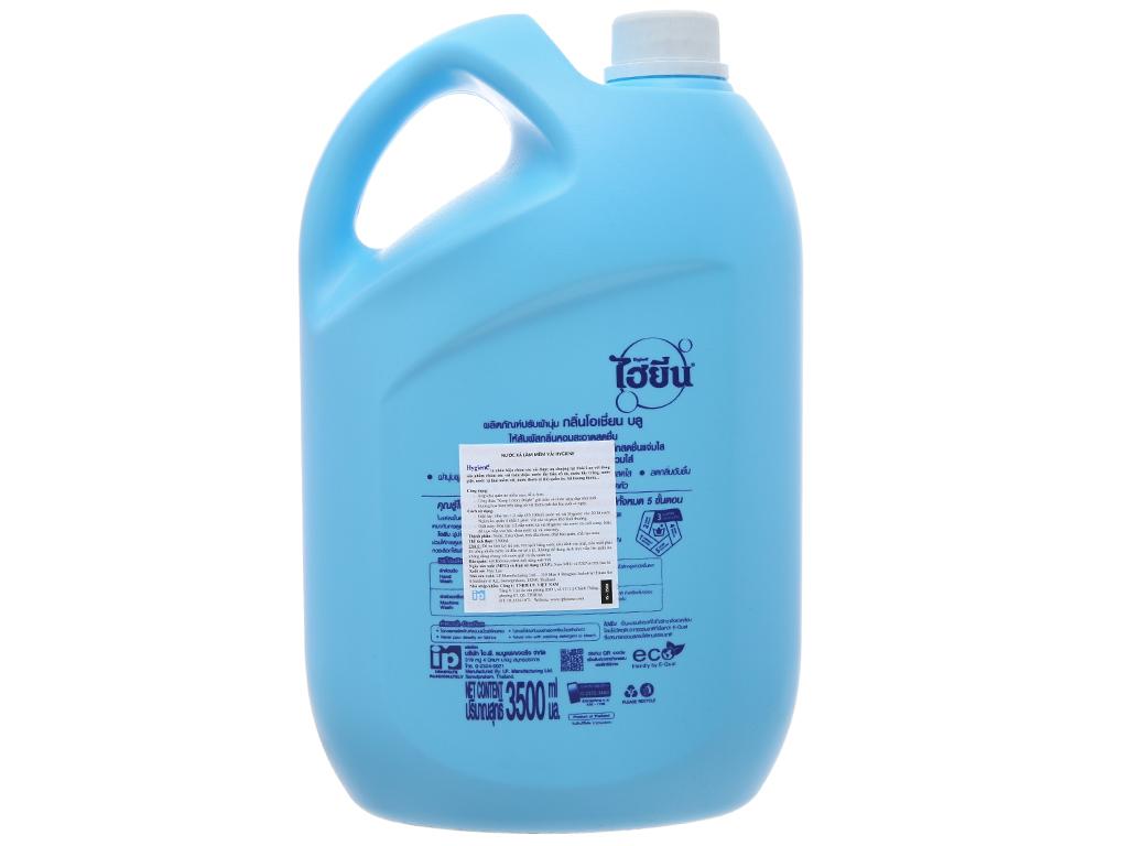 Nước xả vải cho bé Hygiene Ocean Blue can 3.5 lít 3
