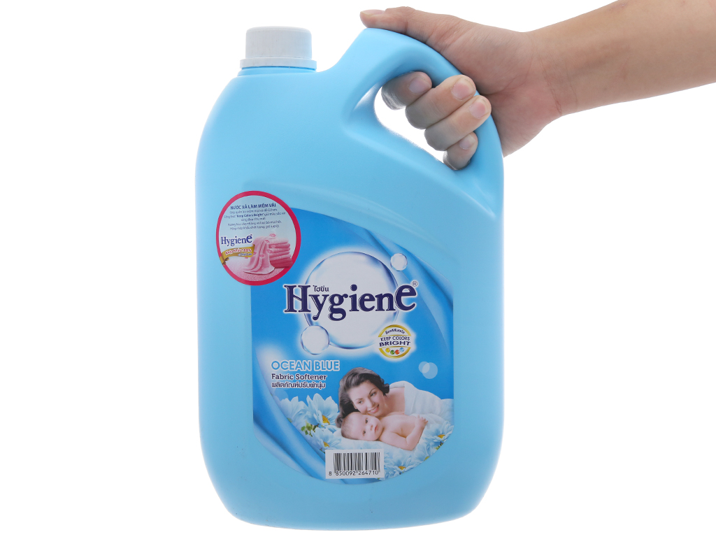 Nước xả vải cho bé Hygiene Ocean Blue can 3.5 lít 5
